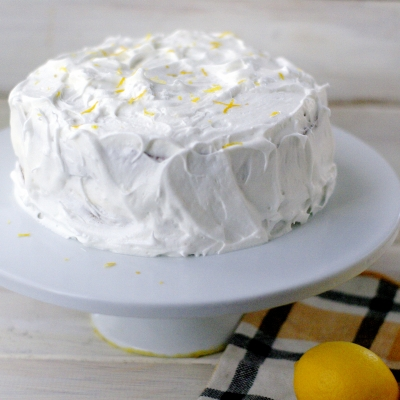 Frosted Lemon Curd Cake