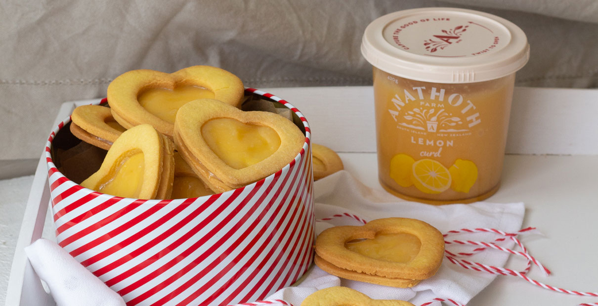 Lovely Lemon Biscuits with Anathoth Farm Lemon Curd