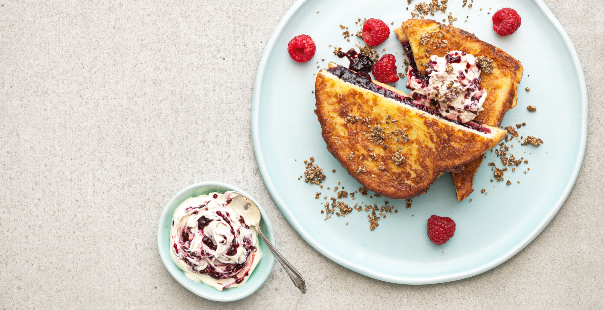 Double Decker Berry & Chia French Toast