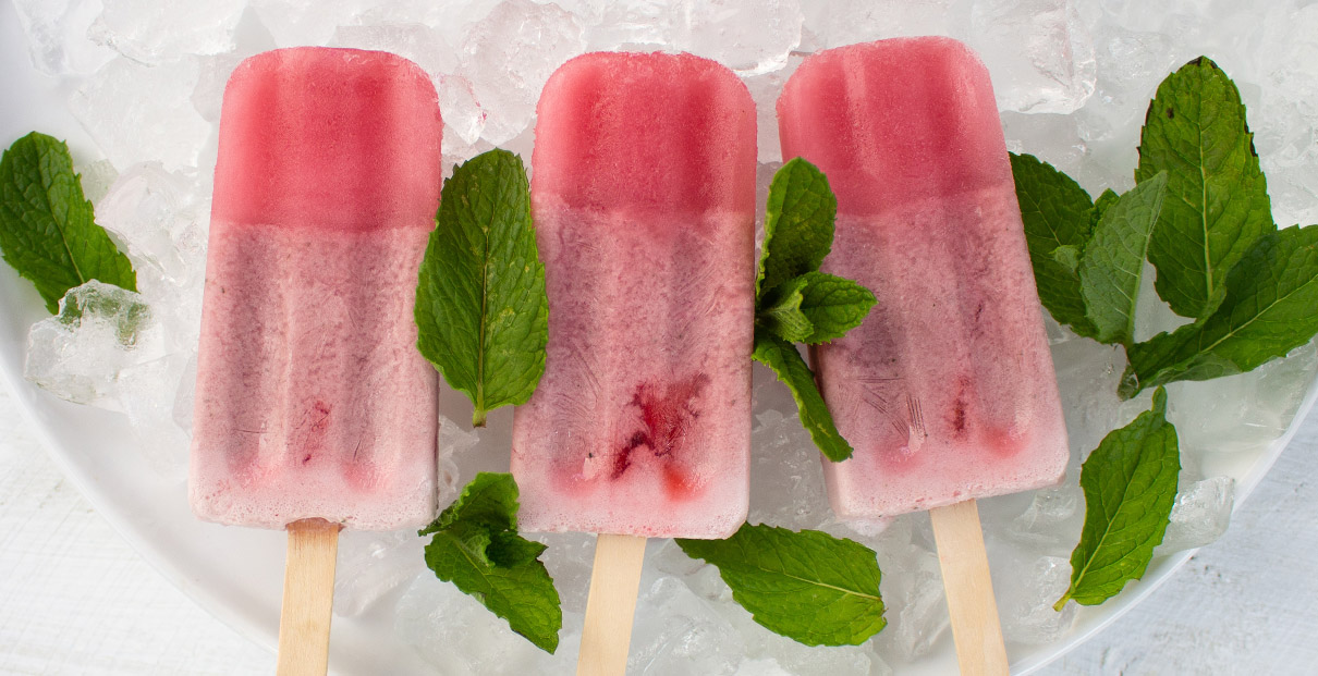 Mint & Raspberry Ice Blocks