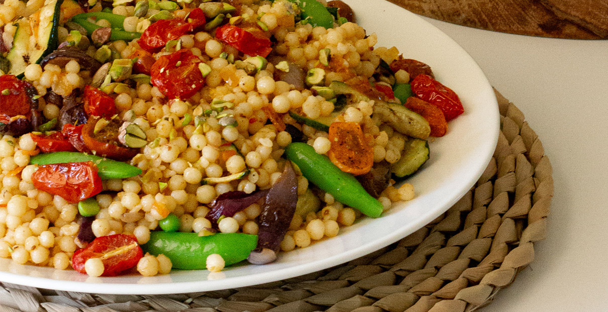 Pearl Couscous & Zucchini Salad