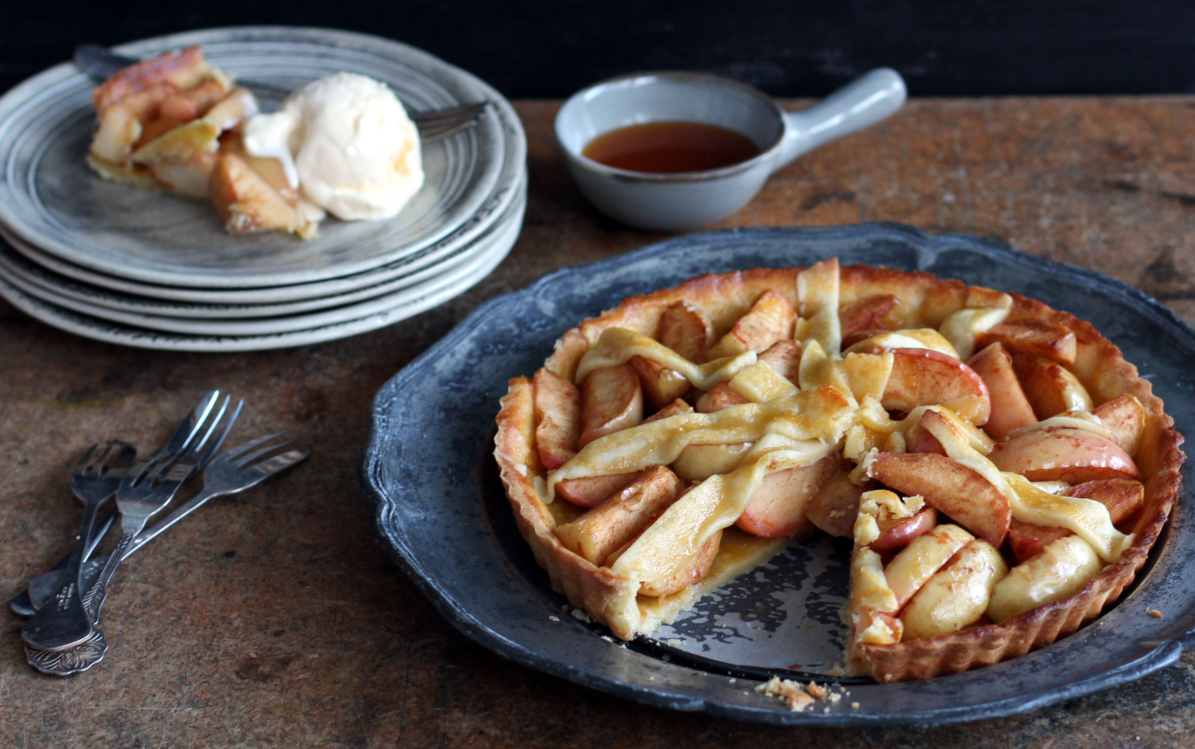 Rustic Apple Flan