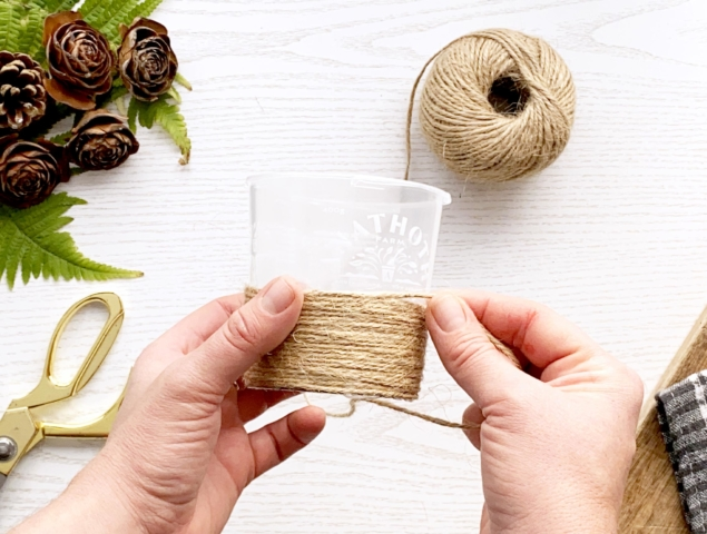 Pottle part wrapped in twine