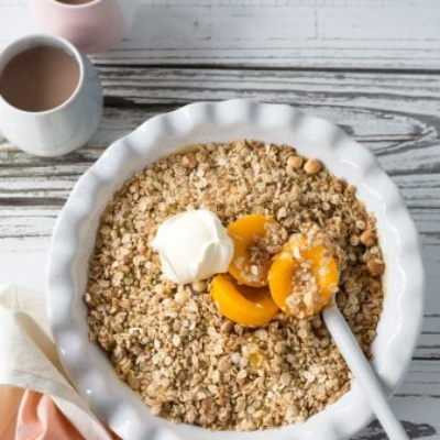 Apricot & Lemon Curd Crumble